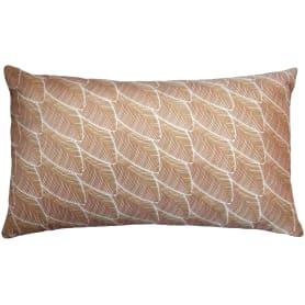 Подушка «Бархат» 30x50 см цвет жёлтый