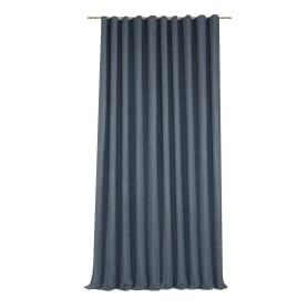 Штора на ленте «Рим» 200x310 см цвет серый/синий