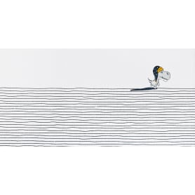 Коврик прикроватный хлопок «Сонный динозаврик» 60x120 см, цвет белый