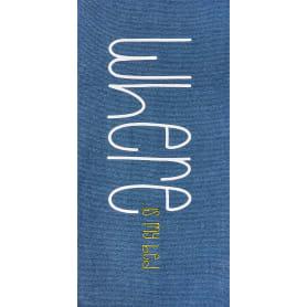 Коврик прикроватный хлопок «Где моя кровать» 60x120 см, цвет синий