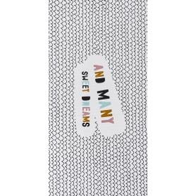 Коврик прикроватный хлопок «Сладкие сны» 60x120 см, цвет белый