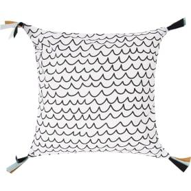 Подушка «Волны» 40x40 см цвет белый