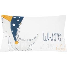 Подушка «Сонный динозаврик» 30x50 см цвет белый