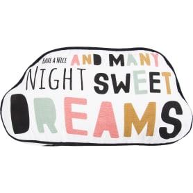 Подушка «Сладкие сны» фигурная 40x40 см цвет мультиколор