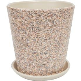 Горшок цветочный «Лунный камень» №5, ø22 см, 5.6 л, керамика, цвет бежевый