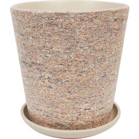 Горшок цветочный «Лунный камень» №6, ø26 см, 9.4 л, керамика, цвет бежевый