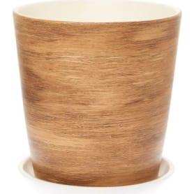 Горшок цветочный «Ироко» №3, ø15 см, 1.5 л, керамика, цвет коричневый
