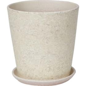 Горшок цветочный «Бежевый камень» №3, ø15 см, 1.5 л, керамика, цвет бежевый
