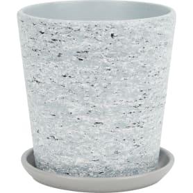 Горшок цветочный «Серый камень» №3, ø15 см, 1.5 л, керамика, цвет серый