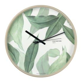 Часы настенные Troykatime «Зелёные листья» ø30 см
