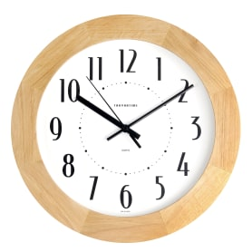 Часы настенные Troykatime ø30 см цвет светлое дерево