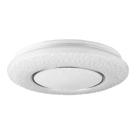 Светильник настенно-потолочный светодиодный Lumin Arte Vega с пультом управления, 20 м², изменение цвета RGB, цвет белый