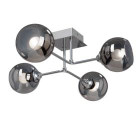 Люстра потолочная Кристина 4 лампы, 8 м², цвет хром