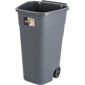 Корпус контейнера для раздельного сбора мусора Plast Team 51.5x51.5x84 см 110 л пластик цвет серый