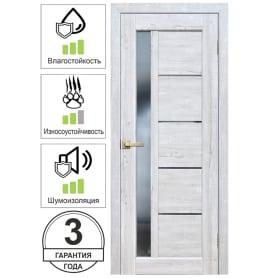 Дверь межкомнатная Artens Брио остеклённая ПВХ цвет сосна тоскана 60x200 см (с замком и петлями)