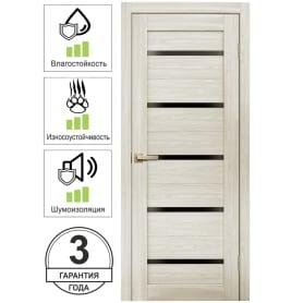 Дверь межкомнатная Artens Дукато горизонтальная глухая Hardflex цвет бора 60x200 см (с замком и петлями)