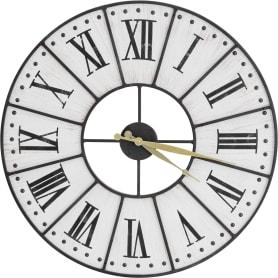 Часы настенные Atmosphera Romance ø58 см, дерево, цвет бежевый/чёрный