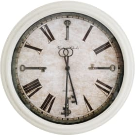 Часы настенные Atmosphera Romance ø39 см, пластик, цвет бежевый/чёрный