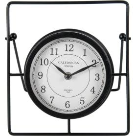 Часы настольные Atmosphera Retro Factory ø17 см, металл, цвет чёрный