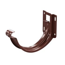 Держатель желоба карнизный ø125 цвет коричневый