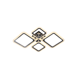 Люстра потолочная светодиодная Escada 10219/4 с пультом управления, 32 м², регулируемый белый свет, цвет хром