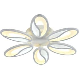 Люстра потолочная светодиодная Escada 10222/6 с пультом управления, 40 м², регулируемый белый свет, цвет белый