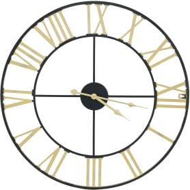 Настенные часы с римскими цифрами ø56 см цвет черный