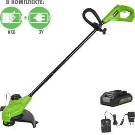 Триммер аккумуляторный Greenworks 2107207 24 В