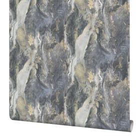 Обои флизелиновые Артекс Аметист тёмно-серые 1.06 м 10495-05