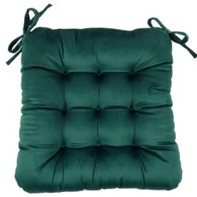 """Подушка для стула """"Бархат"""" 40x36x6 см цвет изумруд"""