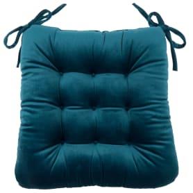 """Подушка для стула """"Бархат"""" 40x36x6 см цвет морская глубина"""