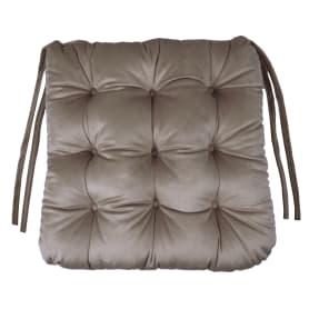 "Подушка для стула ""Бархат"" 40x36x6 см цвет бежевый"