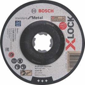 Обдирочный круг по металлу Bosch X-lock Metal, 125x6x22.23 мм