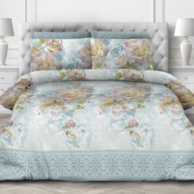 Комплект постельного белья «Лазурный аромат» евро, поплин