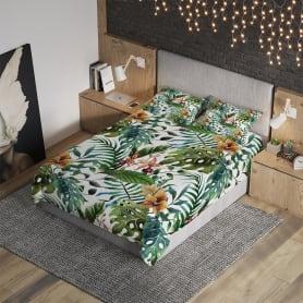 Комплект покрывала с наволочками «Невесомые тропики» полутораспальный, жаккард