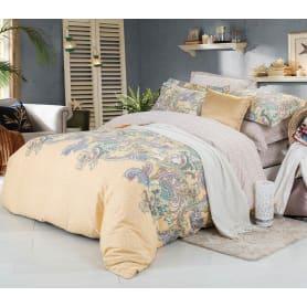 Комплект постельного белья Sailid двуспальный, сатин, 50x70, 70x70 см