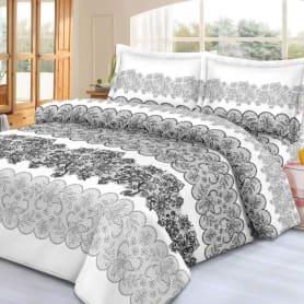 Комплект постельного белья Letto Традиция PS220 евро, сатин