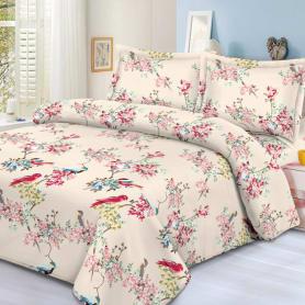Комплект постельного белья Letto Традиция PS229 евро, сатин