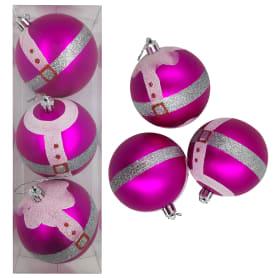 Набор рождественских шаров Добромол 8 см 3 шт