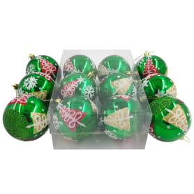 Набор рождественских шаров Добромол 8 см 6 шт
