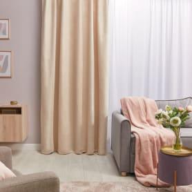 Штора на ленте со скрытыми петлями «Нью Манчестер», 200х280 см, цвет экрю