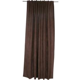 Штора на ленте со скрытыми петлями «Нью Манчестер», 200х280 см, цвет шоколадный