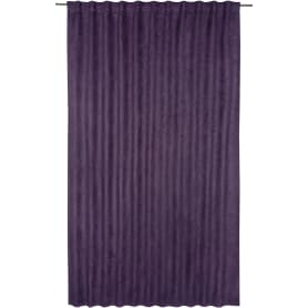 Штора на ленте со скрытыми петлями «Нью Манчестер», 200х280 см, цвет фиолетовый