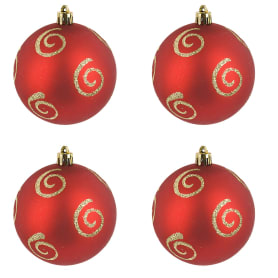 Набор рождественских шаров Monte Christmas 8 см 4 шт пластик