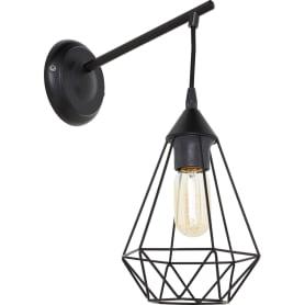Светильник настенный Byron 1хE27х60 Вт, цвет чёрный