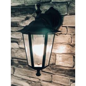 Настенный светильник уличный вниз Inspire Peterburg 1xE27х60 Вт, алюминий/стекло, цвет чёрный