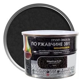 Грунт эмаль по ржавчине 3 в 1 молотковая Dali Special  цвет черный 2.5 кг