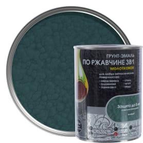 Грунт эмаль по ржавчине 3 в 1 молотковая Dali Special цвет зеленый 0.8 кг
