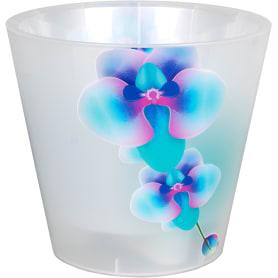 Горшок цветочный Ingreen Фиджи Орхидея ø16 h14.5 см v1.6 л пластик жемчужный/голубой