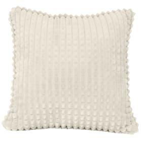 Подушка декоративная Плюш 40х40 см кремовая